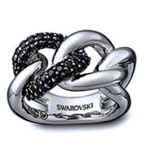 SWAROVSKI~manhattan ring~STERLING~SIZE 52/6